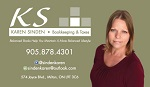 Karen Sinden, Bookkeeping & Taxes